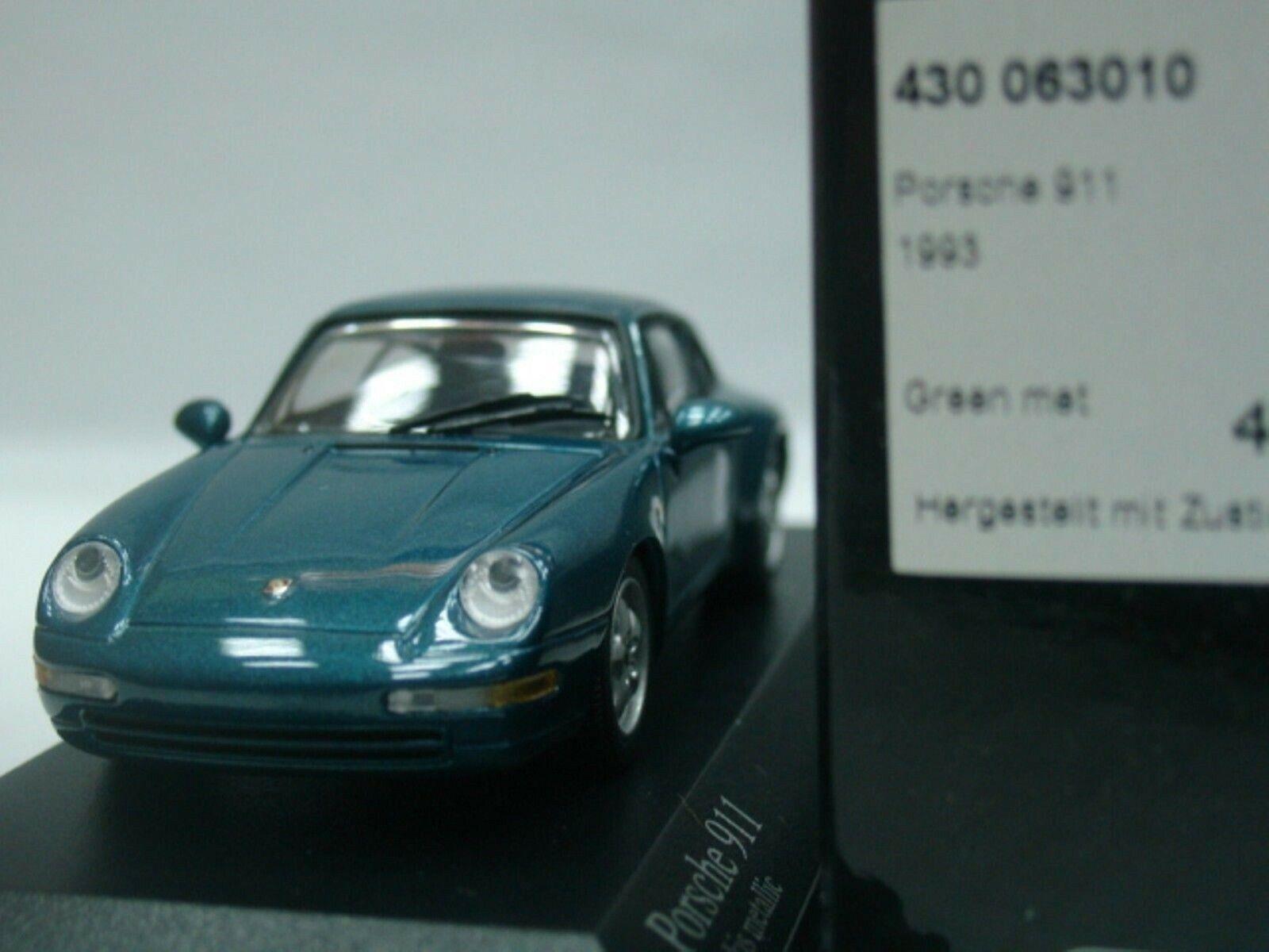 Wow Wow Wow extrêmement rare Porsche 993 911 Carrera 2 Coupé 1993 Vert M 1 43 Minichamps 1e93b2