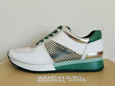 various colors various colors on feet at Michael KORS ALLIE MK Logo White Green Silver Trainer Sneakers US 5 I LOVE  SHOES | eBay