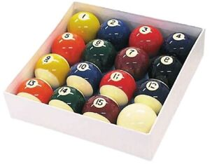 Spots-and-Stripes-2-034-Size-English-POOL-TABLES-BALLS-SET-with-1-7-8-034-Cue-Ball