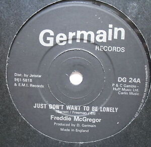 Freddie Mcgregor Just Dont Want To Be Lonely Ex Con 7 Single