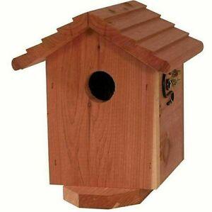 Swell Red Cedar Wood Bird House Nesting Box Birdhouse Wooden Yard Birds Garden Tree Download Free Architecture Designs Scobabritishbridgeorg