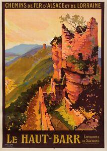 Original Vintage Poster-ROGER SOUBIE-Le Haut Barr-VOSGES-RAILWAY - 1925