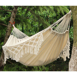 Morocco Hanging Cotton Rope Macrame Double Hammock Chair Swing Bed