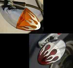 FITS HARLEYS W// 60MM POP ON STYLE TURN SIGNAL LENSES  AMBER FITS FRONT OR REAR