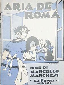 M-Marchesi-Aria-de-Roma-Autografo-Autore-Copertina-A-Rubino-1-ed-1933