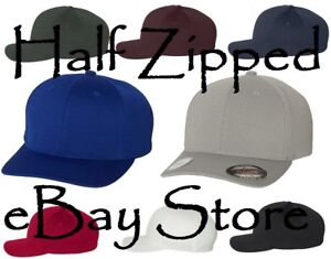 Flexfit Cool   Dry Fitted Sport Cap 6597 Baseball Hat Polyester ... 83e7c05a68d
