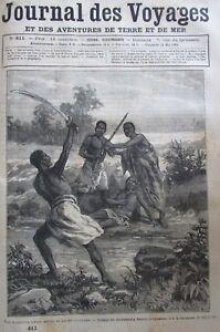 Zeitung-der-Voyages-Nr-411-von-1885-die-Ashanti-M-urs-Gebraeuche-Flotte