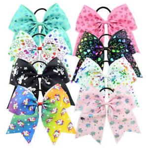 Unicorn-Elastic-Hair-Bands-Women-Girls-Ribbon-Bow-Hair-Rope-Children-Headband