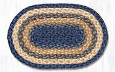Primitive Country Rustic 100% Natural Braided Jute Colonial Blue Placemats