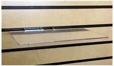 Clear Slatwall Shelves 6 X 12 Set Of 4 Retail Display