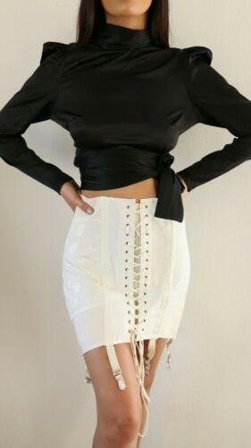 Vintage 1940s laced up  corset girdle skirt in siz