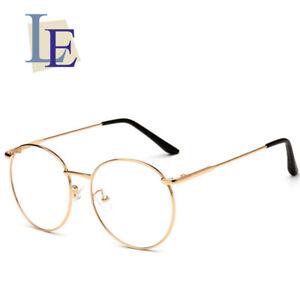4e526d80b44d LE Retro Round Rose Gold Thin Glasses Frames Myopia Rx Prescription ...