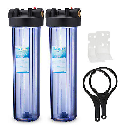 -20x4.5 Geekpure 20-Inch Big Blue PP Sediment Water Filter Cartridge for Whole House Pack of 4