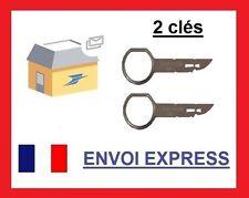 x2 clés d'extraction de démontage façade autoradio stereo SEAT LEON 2000 - 2005