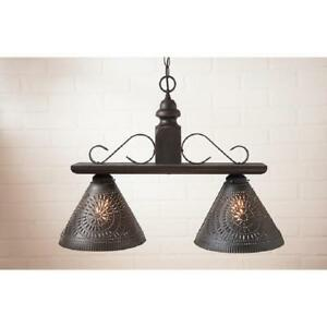 Details About Irvins Tinware Medium Wellington Pendant Light In Black Over Red Kitchen Island