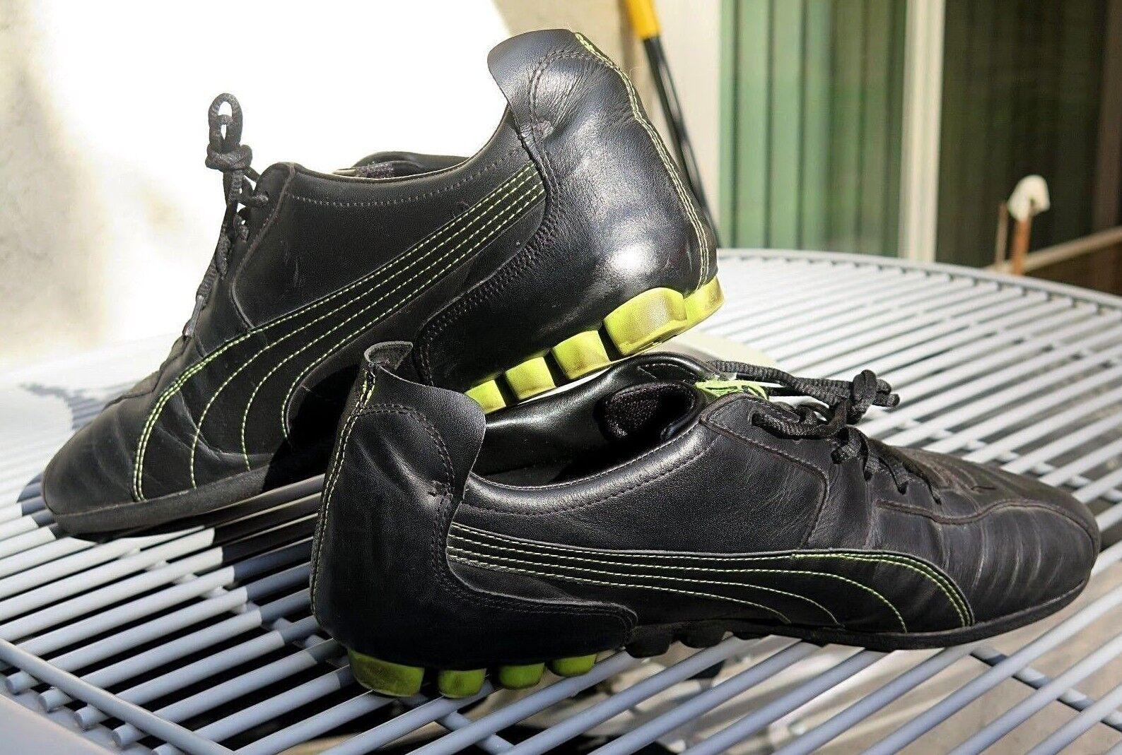 Euc noi sz 12 12 sz puma uomini di pelle di scarpe casual scarpa da ginnastica di colore lime b63030