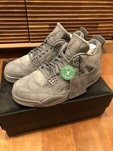 watch a03ad 44260 Details about Nike Air Jordan 4 IV Retro Kaws Cool Grey Suede Glow In The  Dark Sole US11
