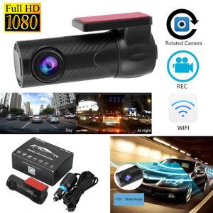 1080P HD WiFi Auto Kamera Versteckte Dashcam Nachtsicht Videorecorder DVR 170°