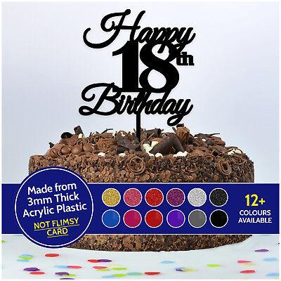 Personalizzato Buon Compleanno Cake Topper Personalizzato Qualsiasi Età 18th 21st 30th 40th 50th- Sapore Aromatico