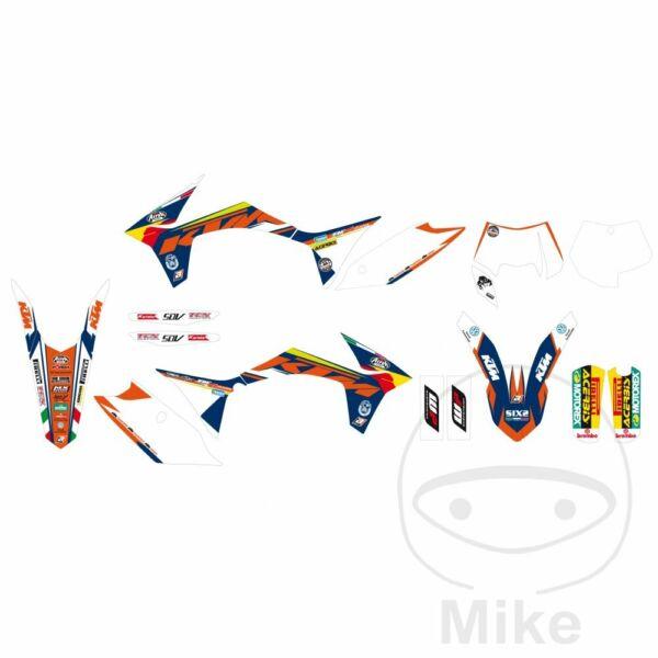 Adesivi Carena Blackbird Racing 2537r15 Ktm 65 Sx 2011-2012