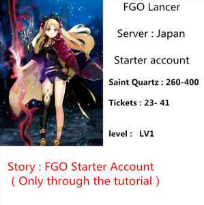 Details about Ereshkiga FGO Starter Account JP 260-400 sq 23-41 ticket Fate  Grand Order Lancer