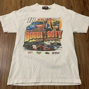 Chase-Kyle-Busch-Shirt-Mens-Large-White-Cotton-NASCAR