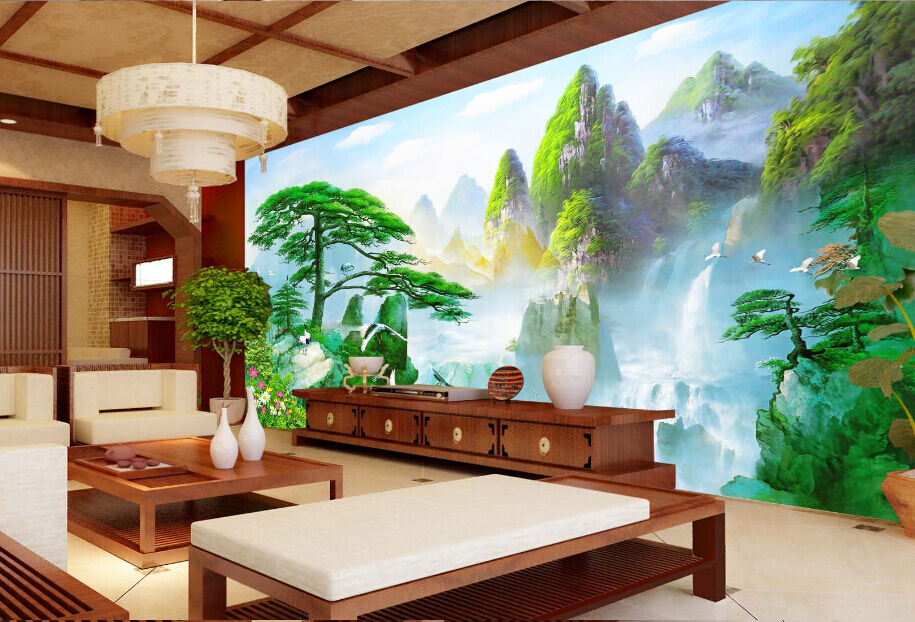 3D Mountain Forest 16 Paper Wall Print Decal Wall Wall Murals AJ WALLPAPER GB