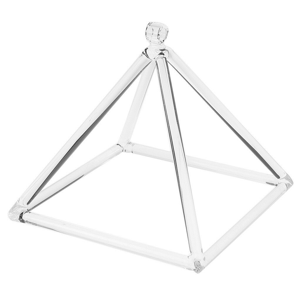 B Note Crystal Singing Pyramid Crown Chakra Quartz Singing Bowl 9inch Clear