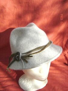toller-Damenhut-klassischer-Wetterhut-hellbeige-meliert-knautschbar-Filzstreifen