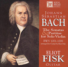 Bach: Sonatas and Partitas for Solo Violin BWV 1001-1006, Arranged for Guitar by
