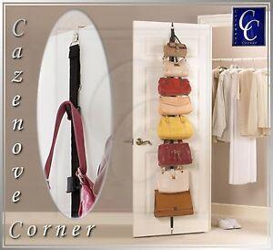 4e3d6c853f05 Details about Over door Handbag organiser / Wardrobe Handbag storage - 8  Hanging storage rack