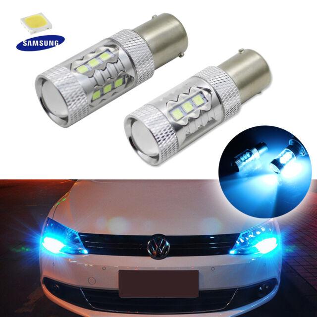 Ice Blue CANbus SAMSUNG LED Bulbs Fit Volkswagen Jetta MK6 Daytime Running Light