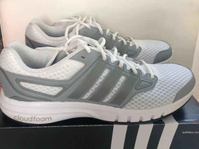 size 40 5a568 e8253 Adidas Galactic Elite M Cloudfoam Mens 12 WhiteGray Running Shoes