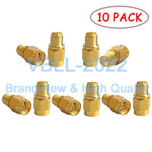 10X-SMA-Male-Plug-to-SMA-Female-Jack-RF-Straight-Coax-Connector-Adapter-NEW