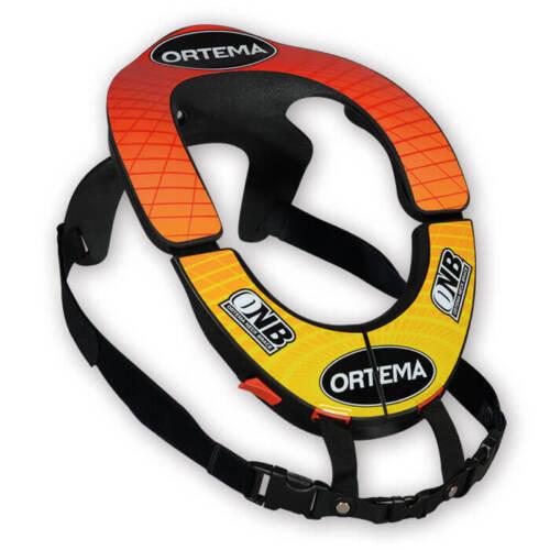 XL Größe S Ortema Nackenstütze ONB Neck Brace Standard mit Dekor in rot//gelb