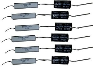 Bulk-400pcs-Crossover-Components-Capacitor-Resistor-for-Audio-Speakers