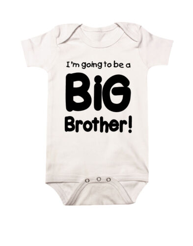 Im Going to be a Big Brother handmade Baby Announcement Clothing 100/% Cotton