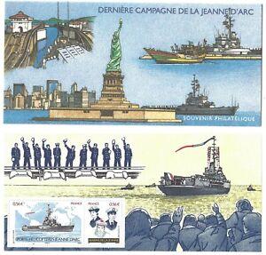 Timbres-France-Bloc-Souvenir-2009-N-46-Derniere-Campagne-de-la-Jeanne-d-039-Arc
