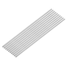 Toppros 300mm X 3mm 304 Stainless Steelsolid Round Bar Lathe Bar Stock Pack Of