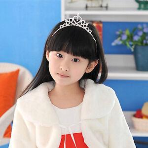Rhinestone-Crown-Heart-Tiara-Hair-Band-Girls-Kid-Bridal-Princess-Wedding-Party-F