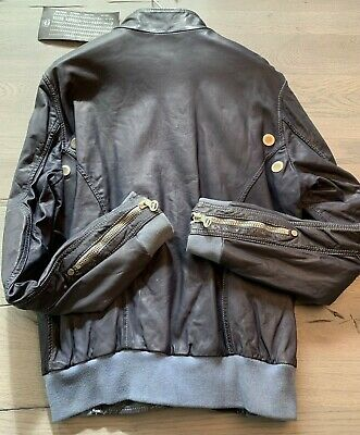 Umoristico Laverda Limited Motorcycle Giacca Moto Leather Biker Giacca Giubbotto Jacket Xl-