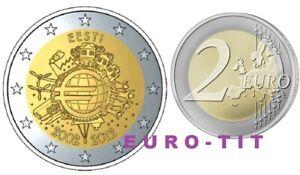 2 €   ESTONIE       1  X   PIECE   NEUVE    2012     disponible