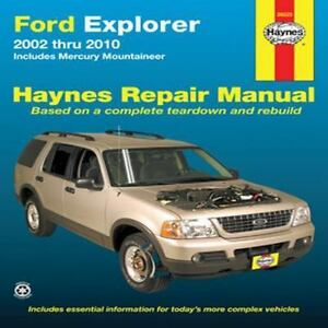 haynes repair manual ford explorer 2002 thru 2010 includes rh ebay com 2008 Ford Explorer Sync System 2008 Ford Explorer Sync System
