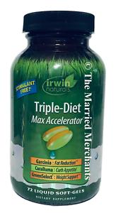Irwin Naturals Triple Diet Max Accelerator Caralluma 72 softgels 1/2022 FRESH!