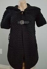 Alice and Olivia Black Chunky Cardigan Sweater Short sleeves XS