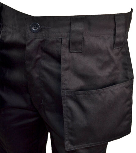 Mens Heavy Duty Combat Cargo Work Trousers Holster Multi Pockets Trade 30-50