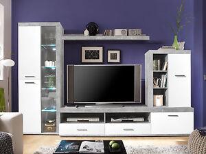 Das Bild Wird Geladen CARIM Wohnwand Anbauwand TV  Wand Schrankwand Fuers Wohnzimmer