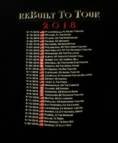 HAMMERFALL cd lgo REBUILT TO TOUR 2018 CANADA Official SHIRT built to last M-2XL
