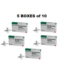 (5) Five Boxes Ammonia Inhalant Ampoules 10 Pack Box Treat Or Prevent Fainting