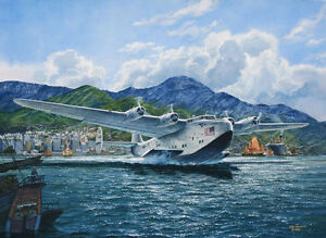 034-California-Clipper-034-Tom-Freeman-Print-Boeing-314-Outbound-from-Hong-Kong-1939